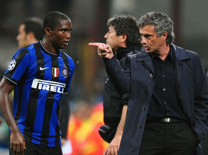 IInter Milan's Portuguese coach Jose Mou