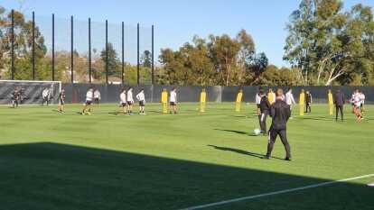 Inter Miami entrenó esta tarde en las instalaciones de LAFC por última vez antes de debutar en la MLS.