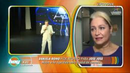 Daniela Romo hace un llamado de respeto para José José