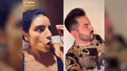 Aislinn y José Eduardo Derbez 'pierden la cabeza' en gracioso video: ¡Qué te calles, estoy grabando!'