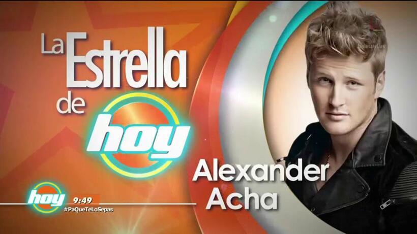 LA ESTRELLA DE HOY: Alexander Acha