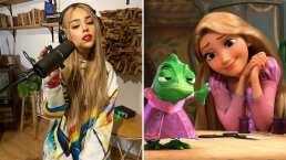 Danna Paola se transforma en princesa y demuestra que es idéntica a Rapunzel de 'Enredados'