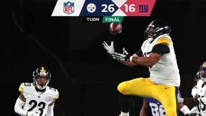 Los Steelers consiguen vencer en calidad de visitantes a los New York Giants.