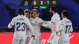 Brillante Benzema encamina con gol de fantasía el triunfo sobre Barcelona