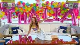 A Thalía la siguen llenando de regalos por su cumpleaños y así los presumió emocionada