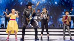 Bronco cantó sus éxitos acompañado de los Pequeños Gigantes