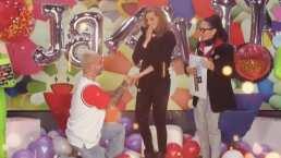 J Balvin le 'propuso matrimonio' a Montserrat Oliver, en vivo