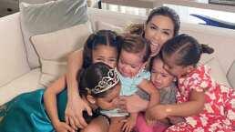 Jacky Bracamontes vive hermoso reencuentro con sus hijas tras semanas de no verlas