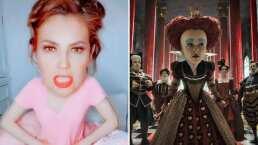 Thalía se transforma en la 'Reina Roja' y recrea divertida escena de 'Alicia en el País de las Maravillas'