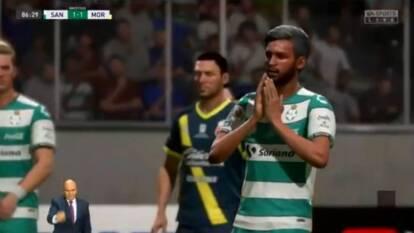Santos falló un penal y el empate a un gol pone en peligro su clasificación a la Fiesta Grande del futbol virtual.