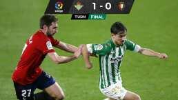 Lainez se perdió el partido en el que el Betis ganó al Osasuna