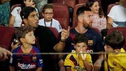 El festejo del gol fallido del hijo de Messi, Mateo