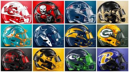 Los casos de los equipos de la NFL suelen usar un color de su uniforme, pero ninguno de estos sería el que ocupan actualmente. ¿Te gustan estos diseños?