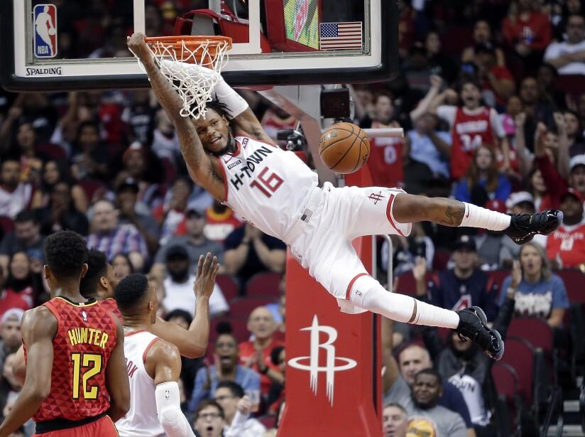 APTOPIX Hawks Rockets Basketball