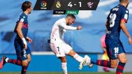 Hazard despierta el gol en victoria madridista