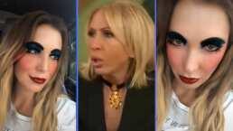 """Andrea Escalona se divierte con un filtro de maquillaje para revivir una frase de Laura Bozzo: """"Esta parece teibolera"""""""