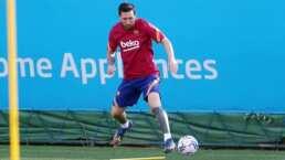 Así entrenó Messi de forma individual en su regreso con el Barcelona