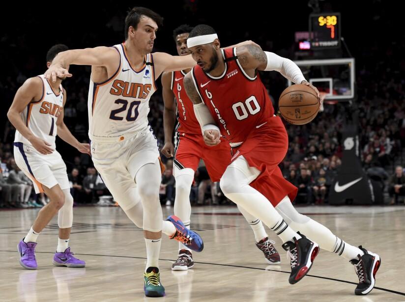 Suns Trail Blazers Basketball