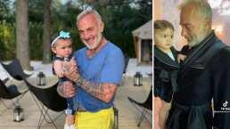 Gianluca Vacchi y su bebita enternecen al vestirse iguales con elegantes batas