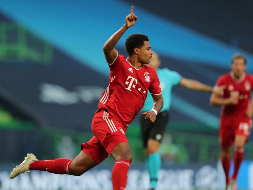 Serge Gnbary festejando un gol