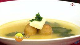 Cocina: Sopa de chipilín con bolita