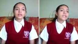 Video:¡Qué oso! Pasa la vendedora de elotes mientras joven graba un video para la escuela