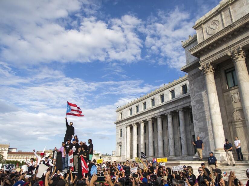 Protestas en Puerto Rico con Bad Bunny, Residente y Ricky Martin