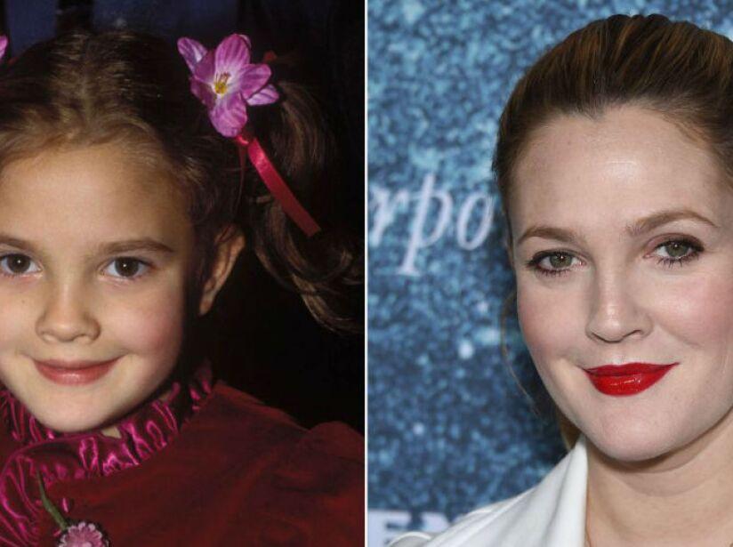 11. Drew Barrymore (41 años): La estrella de Los Ángeles de Charlie conservó muchos de sus rasgos infantiles.