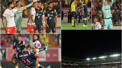En un partido emocionante, con grandes goles y un expulsado, Necaxa y América dividen puntos.