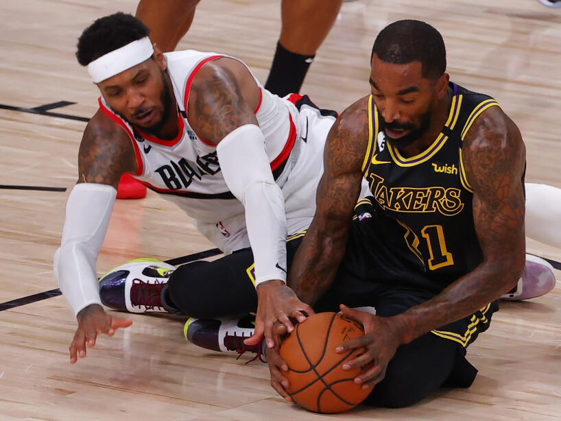 Lakers Trail Blazers Basketball