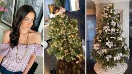 Dayanara Torres presume su elegante árbol de Navidad que decoró al lado de su hijo, Ryan