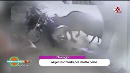Vaca le salva la vida a mujer que era salvajemente atacada por su pareja.