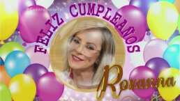 Roxana Castellanos parte pastelito de cumpleaños y le dan tremendo susto en 'Cuéntamelo ya!'