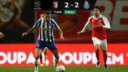 'Tecatito' Corona puso una asistencia en empate del Porto contra Braga