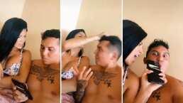 Kimberly Flores le 'arma una escena' de celos a Edwin Luna en TikTok