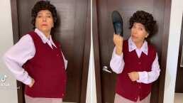 Doña Lucha te da un tutorial del chanclazo y otras poses intimidantes de una mamá