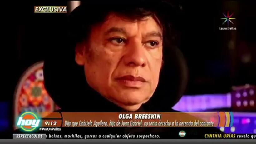 Hija de Juan Gabriel reta a Olga Breeskin ¡Entérate!