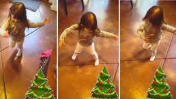 Como toda una profesional, Kailani protagoniza una tierna coreografía navideña