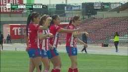 ¡Gran definición! Daniela Carrandi logra el 1-1 de penal