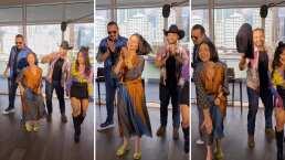 ¡Al fin se dejó! Ángela pone a bailar a su papá, Pepe Aguilar, 'En Realidad'