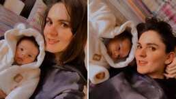 ¡Como osito de peluche!: Así de tierno se ve el bebé de Zoraida Gómez con su mameluco para el frío