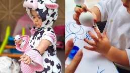 La hija de Claudia Álvarez ya se pinta las uñas solita y su mamá lo comparte orgullosa