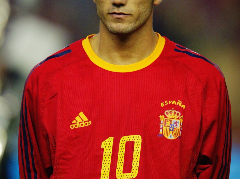 Jose Antonio Reyes of Spain during the team line up