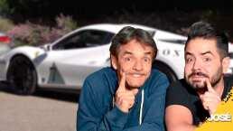 """Eugenio Derbez y José Eduardo rompen las reglas abordo de un Ferrari: """"¡Ahí está la policía!"""""""