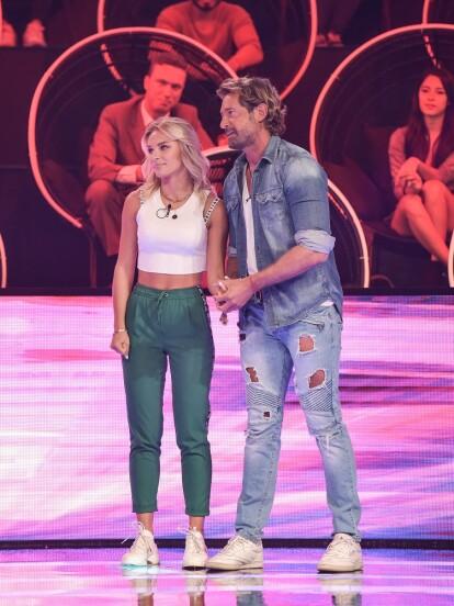 Irina Baeva y Gabriel Soto fueron los padrinos del primer programa de la nueva temporada de Minuto Para Ganar VIP, donde demostraron sus habilidades.