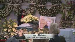 El último adiós a Maty Huitrón