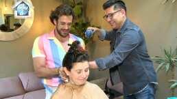Lambda García perdió el miedo a las tijeras y se animó a cortar el cabello de su mamá