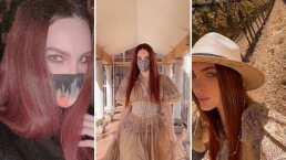 Belinda asombra con su cabellera rojiza y luce drástico cambio de look