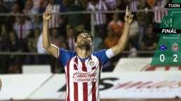 ¡Hermoso! Chivas gana con gol de Oribe Peralta en Copa MX