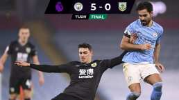 Tres goles de Mahrez impulsaron la victoria 5-0 del City ante el Burnley